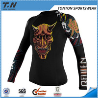 sublimated custom printed rash guards