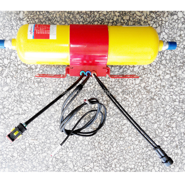 Bus safety wall mount dry powder fire extinguisher