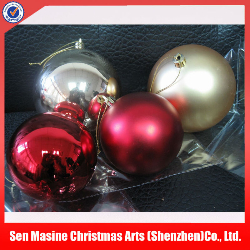 Wholesale high quality satin christmas machine make plastic balls