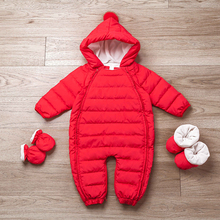 fashion winter plain warm toddler snowsuit baby down rompers baby winter rompers