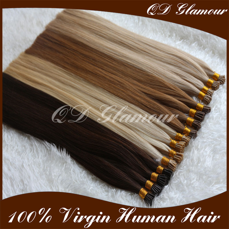 Factory Wholesale Price 1g Double Drawn I Tip Brazilian Remy Hair