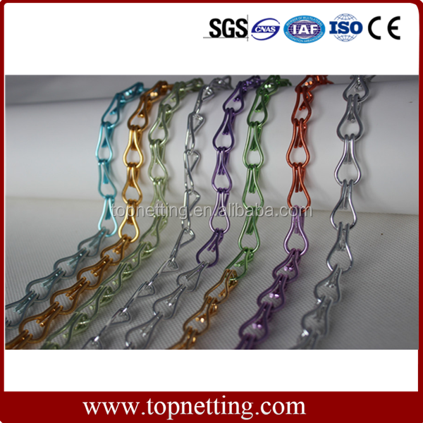 Aluminum chain mail for room divider