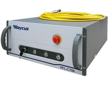 Fiber laser power for fiber laser cutting machine Raycus 750W fiber laser source , RFL-C750