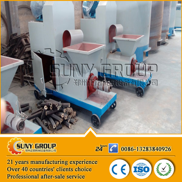 ZY wood chips briquette machine to make BBQ charcoal