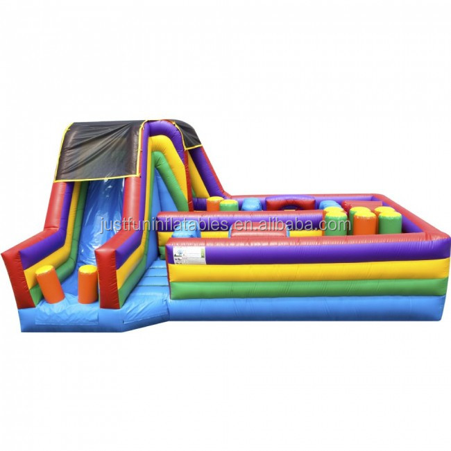 Commercial Inflatable Obstacle Course with slide