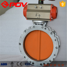 pneumatic single acting normally open powder butterfly valve