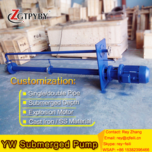 YW series wastewater treatment submersible sewage pump cast iron sewage pump for sludge