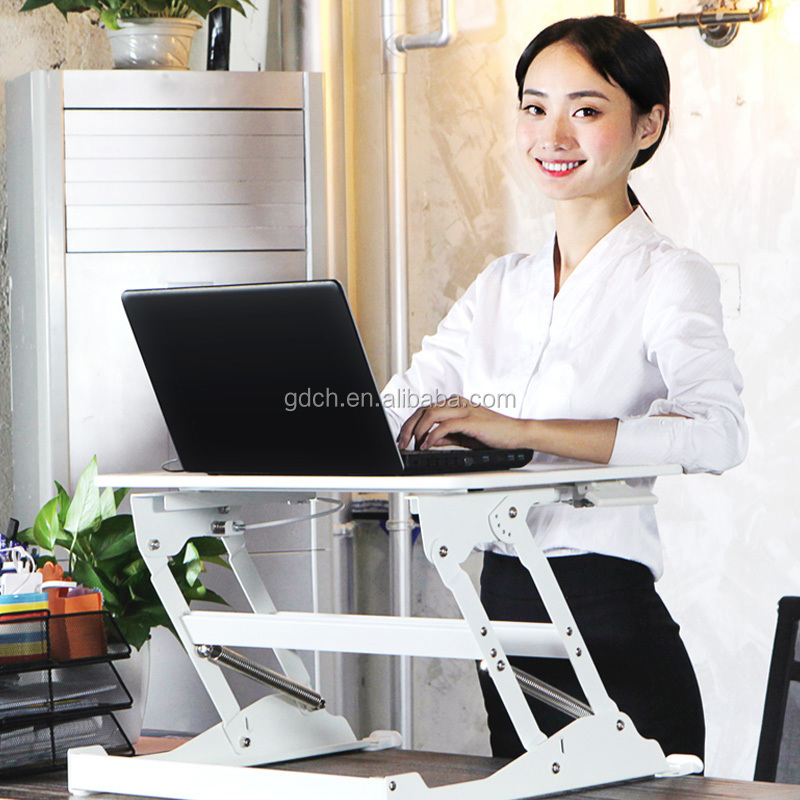 Cheapest price sit stand desk office for monitor and PC