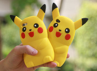 3D Cartoon Pikachu pokemon go Phone Case Silicon Cover For iPhone 6