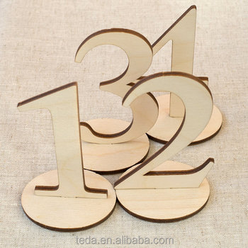 Wooden wedding table number set