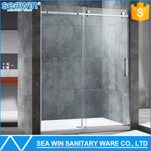 Hospitality 304 Stainless Steel Bathroom Shower Screen 8mm Sliding Glass Puerta de la ducha