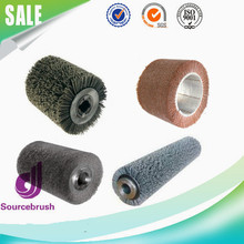 custom cylindrical coated brass steel wire sheet strip polishing brush roller