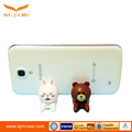 New design popular Cute cartoon soft creative mobile phone support bracket/silicone one touch cell phone stand