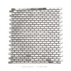 century first class brick pattern stainless steel 12x12inch mosaic tile