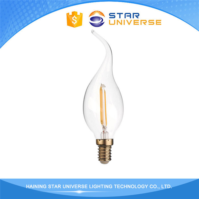 High CRI CE RoHS LVD Approved 3W 4W 4.8W led candle filament light bulbs