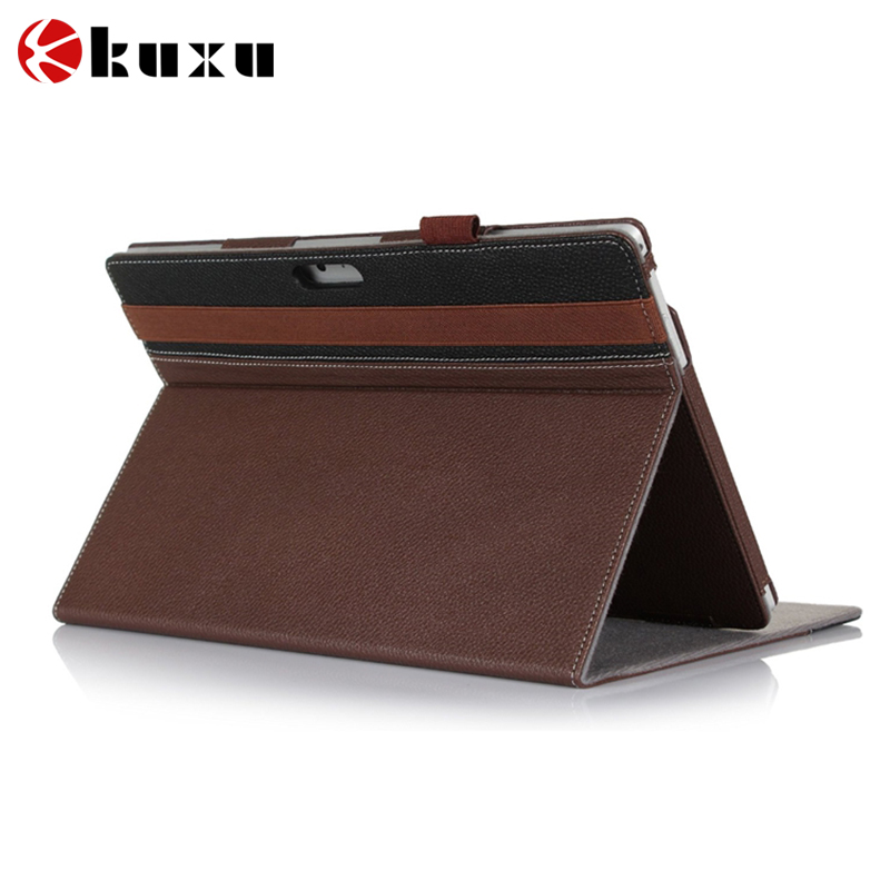 Flip Slim Fit PU Leather Stand Cover with Stylus Holder Card Holder for Microsoft Surface Pro 4