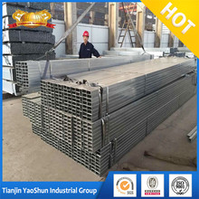 attractive price square and rectangular cross - section ERW galvanized steel pipe tube