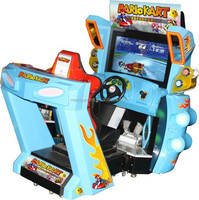 Simulator coin operated game Arcade 2 player car racing game seat machine download console for game center rb