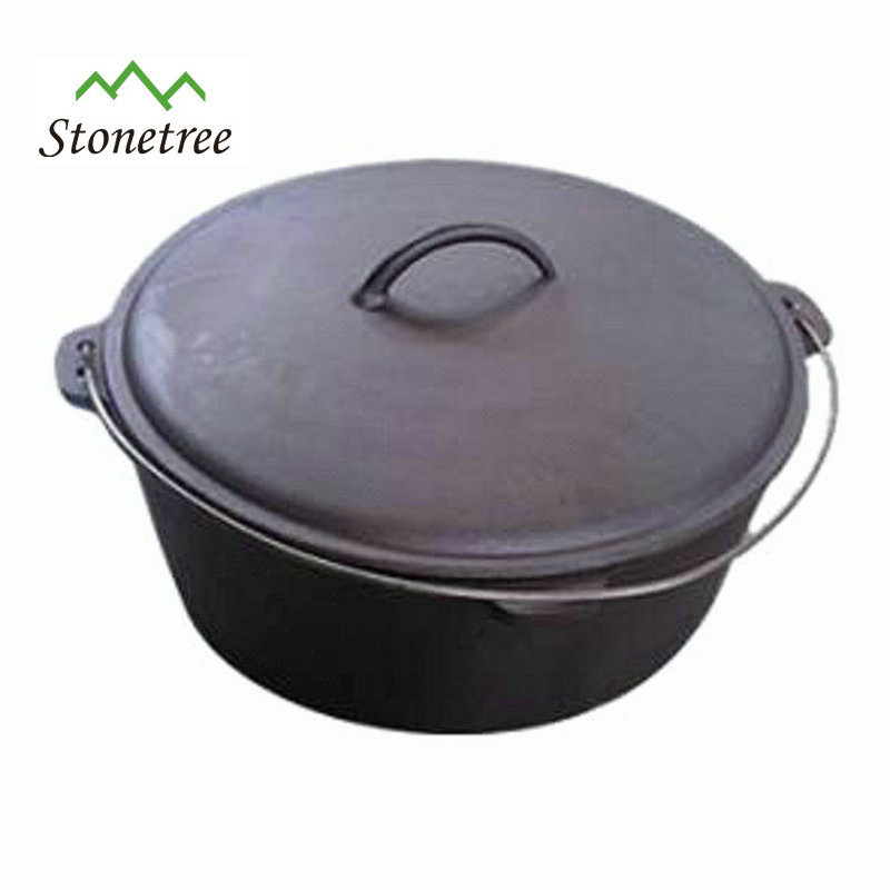Wholesale Cast Iron Dutch No Leg Dutch Oven