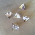 samll size triangle shape glass pyramid