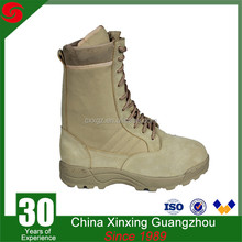 Split leather military boots swat boots desert boots