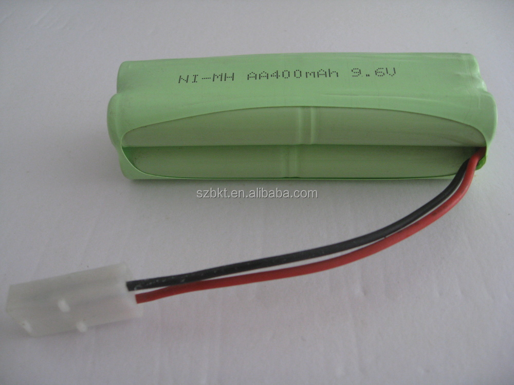 AA400mAh 9.6V Ni-MH battery pack for toys