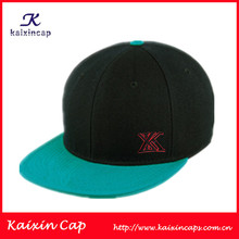 High Quality Custom Two Tone 3D Embroidery Snapback Caps Hats Wholesales Hip Hop Cap Style