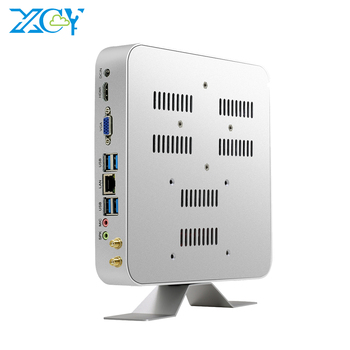 XCY mini pc hardware intel Core i7 7500U 4K HTPC mini computadora i7 VGA 300M WiFi Gigabit Ethernet 6*6 * USB