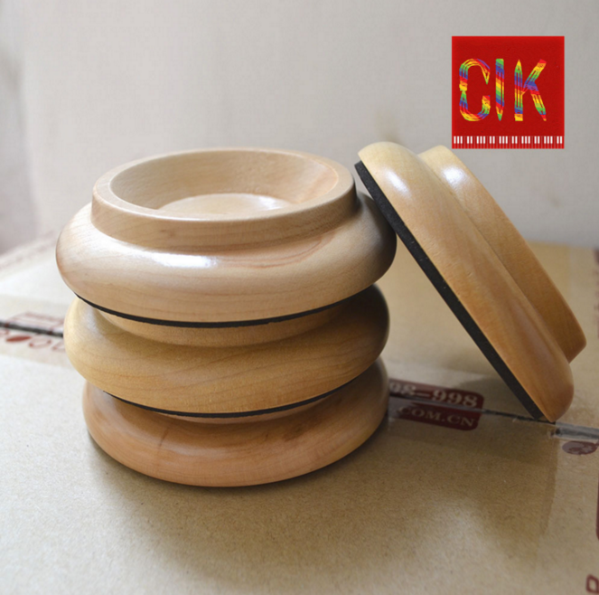 Wooden 4 furniture caster cups for upright piano