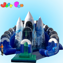 Factory directly sale cheap custom mountain shape inflatable kids snow slide for sale