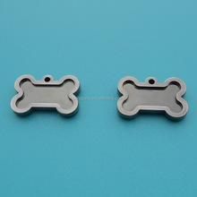plated black nickel bone shape dog tag eco-friendly metal pet tags