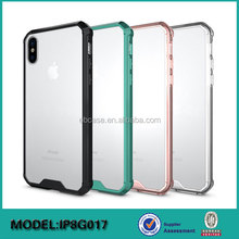 High quality tpu pc combo acrylic armor case for iphone 8,for iphone 8 case clear
