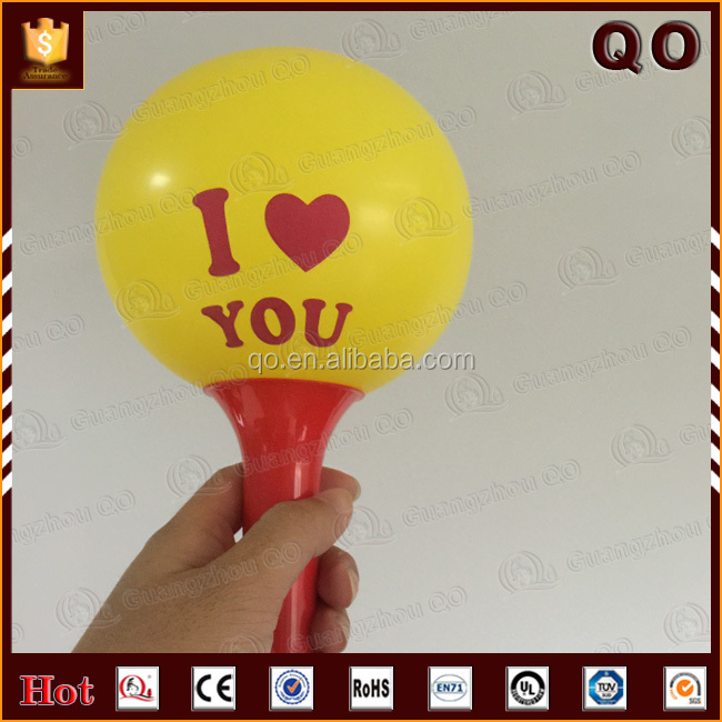 Wholesale free water logo printed decorative latex balloon with handle