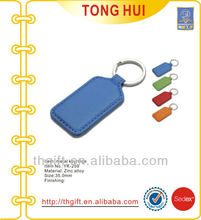 Various colors blank leather key chains/keyrings