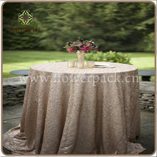 Elegant wedding 100% polyester sequin table cloth chevron sequin table overlay