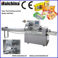 DZP250C Flow Pack Bread Chocolate Soap Biscuit Horizontal Flow Wrapping Machine