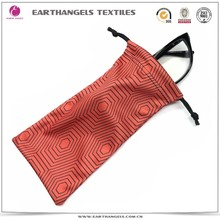 Polyester microfiber optical sunglasses pouch bags with custom logo printing