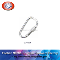 LJ-T006 D Ring Shape Carabiner Spring Snap Key Chain Buckle