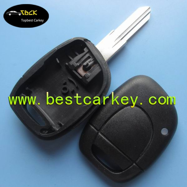 NO Logo 1 button car remote shell without battery place car blank key car key cover