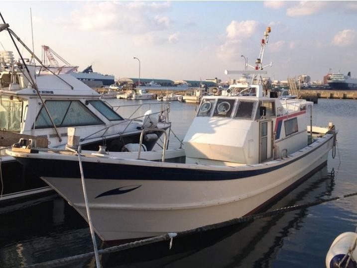 11.96m Japan used fiberglass diesel fishing boat