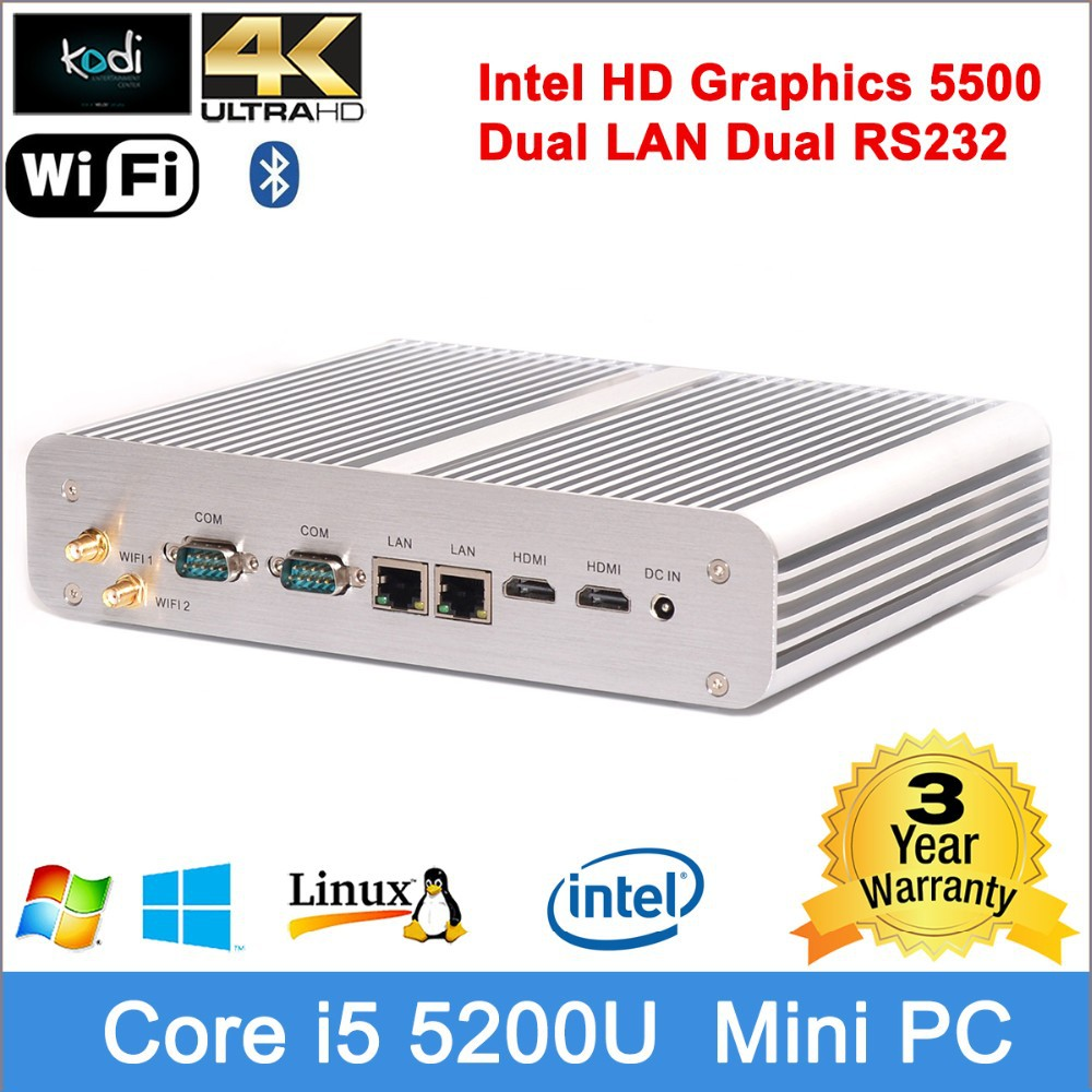 mini pocket computer Intel processor Broadwell Core i5 3M cache ordenadores support 3D 4K filmes smart tv box windows 8.1