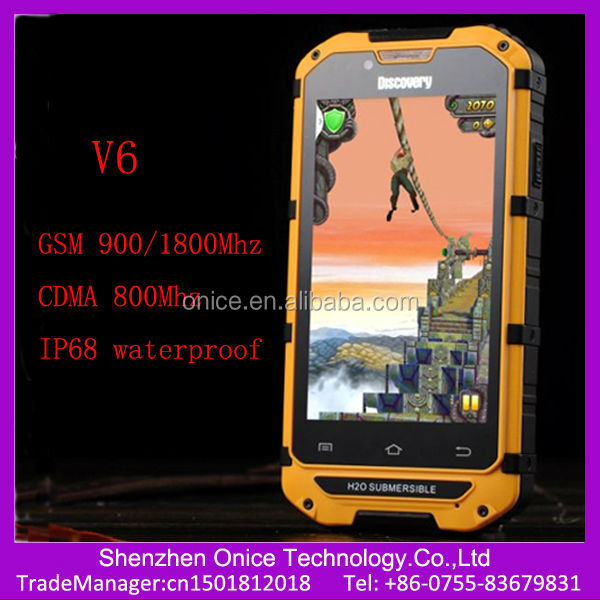 cdma 800 cell phones discovery V6 4 inch IPS screen IP68 waterproof dual sim mobiles cdma gsm android smart phone CDMA russian