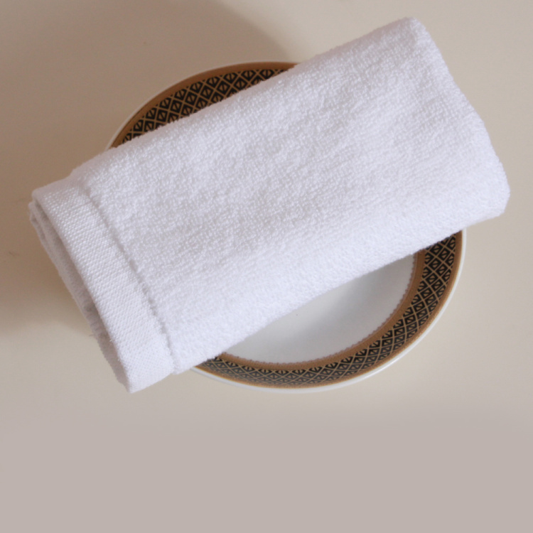 High quality hotel used soft plain white cotton towels handkerchiefs/small hand towel