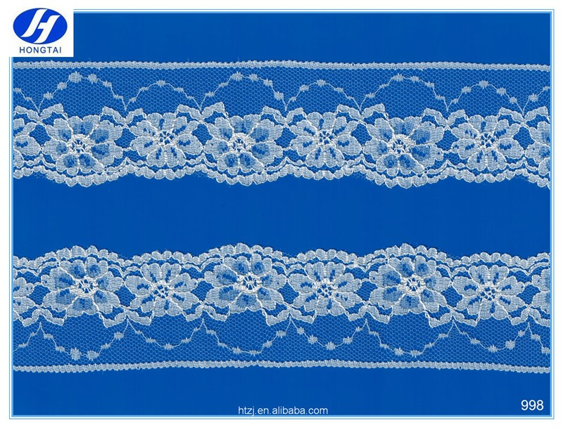 China suppliers Hongtai 3d french lace trim ribbon designer embroidery net fabric