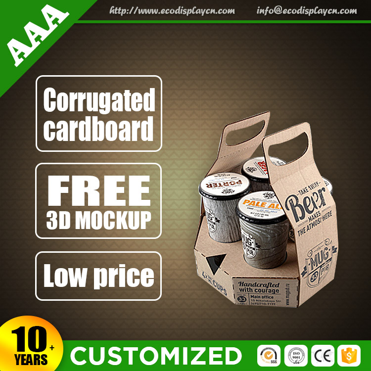 Costmize Two Pack Beer Carrier, Cardboard Wine Box