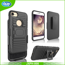 New stylish 3 in 1 cellphone accessories robot holster belt clip combo case for iphone 7 with kickstand