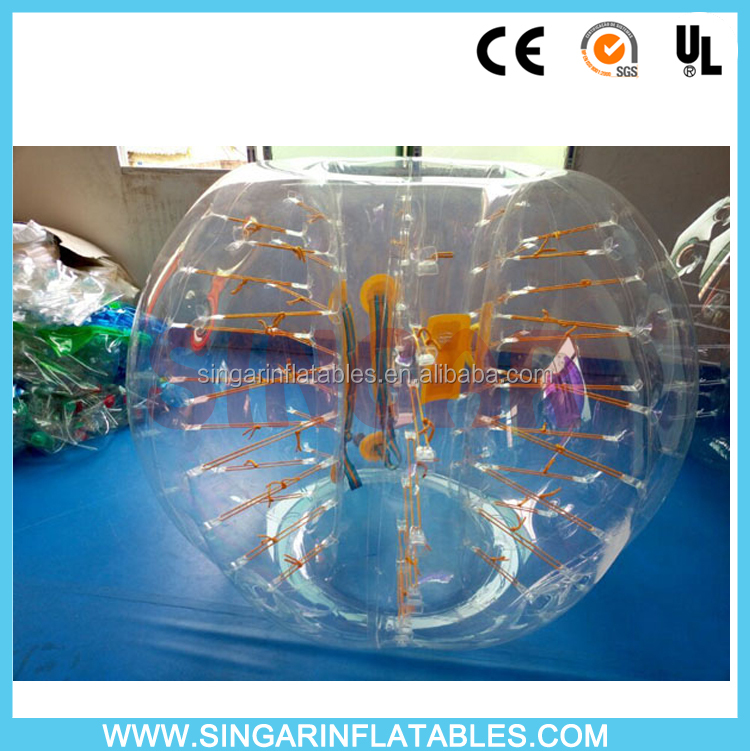 Hot sale 100% TPU PVC LED lighting bumper ball soccer bubble human bubble ball bubble sports good price for rental