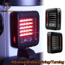 Smoked LED Tail Light for Jeep Wrangler Taillight Reverse Light Real Back Up Turn Signal Lamp DRL for JKU JK 07-16