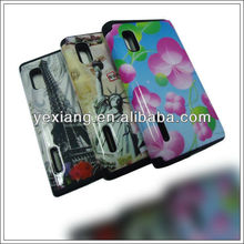 Double protect sublimation cover case for LG E610/E612/L5