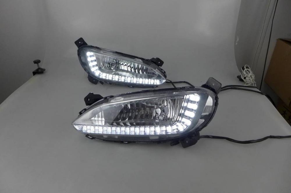 Fog lamp with daytime running light for Hyundai Santa FE /IX45 2013